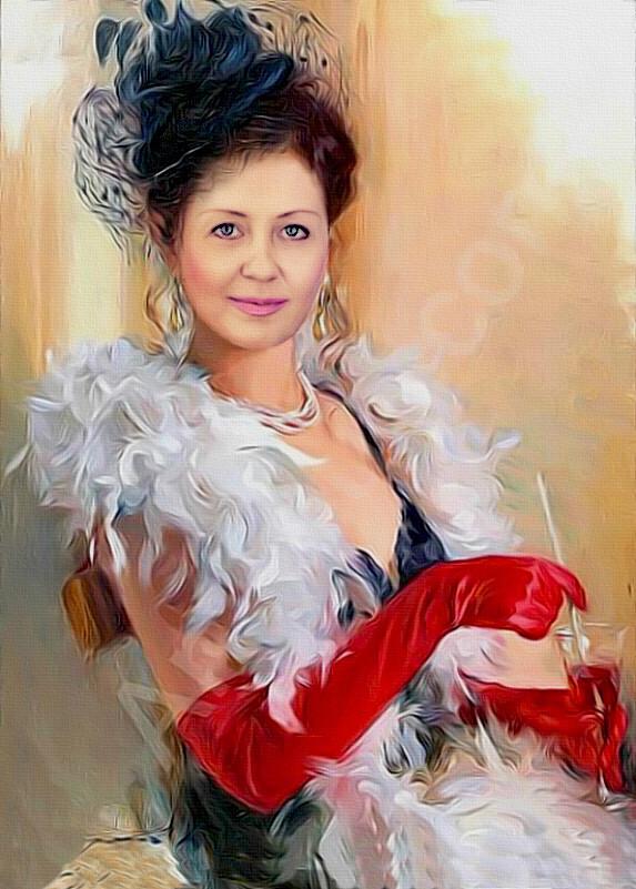 Ретушь портрета женского